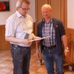 25 Jahre Mitgliedschaft - Jürgen Hübner und der 1.Vorsitzende Thomas Kramm
